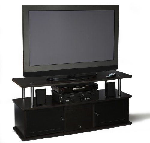 Cheap Plasma TV Stand with Cabinet in Espresso Finish (151202ES)