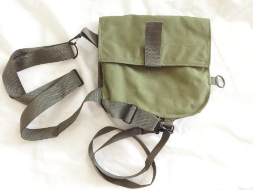 US Military Army Messenger Carrier M40/M42 Gas Mask Bag Pouch Pack Satchel OD Green