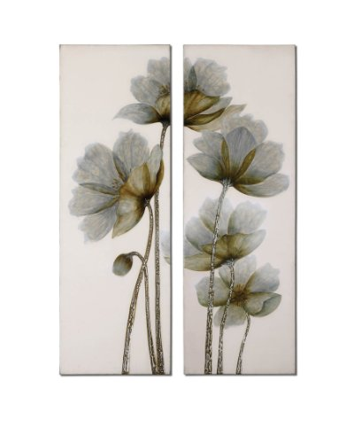 White-Silver-Wall-Art-Canvas-Stretched-Wood-Stretching-Bars-Decor-34201-by-Uttermost