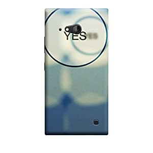 iShell Premium Printed Mobile Back Case Cover With Full protection For Nokia Lumia 730 (Designer Case)