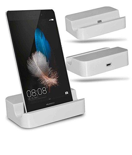 Huawei P8 Lite Station d'accueil de bureau avec chargeur Micro USB support de chargement - White - By Gadget Giant®