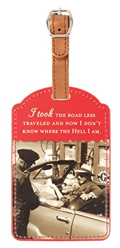 Shannon Martin Girl Designer Luggage Tag, Less Traveled