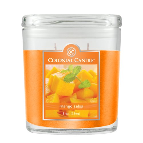Colonial Candle 8-Ounce Oval Jar Candle, Mango Salsa (Colonial Candle Mango Salsa compare prices)