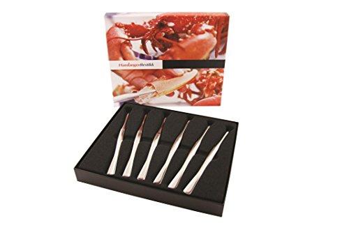 Hardanger de 6 fourchettes à crustacés en inox