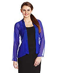 The Closet Label Womens Gorgette Casual Jacket (ACCOM-100150-XS_Cobalt)