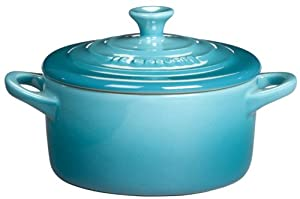 Le Creuset Stoneware 8-Ounce Petite Round Covered Casserole, Caribbean by Le Creuset