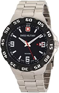Swiss Military Calibre Men's 06-5R1-04-007 Racer Black Dial Steel Bracelet Watch