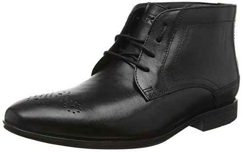 RockportStyle Connected Chukka - Stivaletti uomo , Nero (Nero (Black Leather)), 44.5