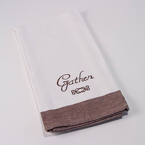 Gather Harvest White Natural Cotton Hand Towel (Cute Halloween Tombstone Sayings)
