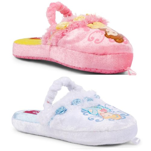 New Kids Girls Official Disney Princess Slippers Belle Sleeping Beauty Soft Cosy
