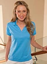 Anaconda Sports® 915 Women's Texture Stripe Polo Shirt (Call 1-800-327-0074 to order)