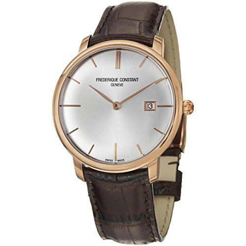 Frederique Constant Slim Line Automatic 18kt Rose Gold Mens Luxury Strap Watch FC-306V4S9