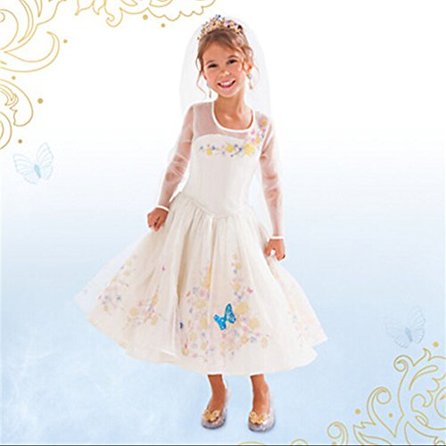 2015 NEW Cinderella dress white Ella wedding dress costumes for girls