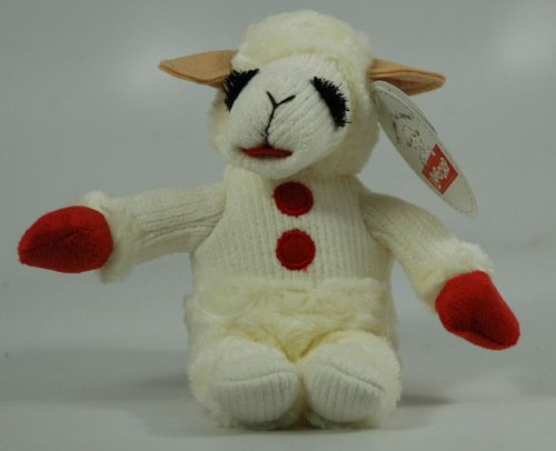 Aurora LAMB CHOP WITH RED MITTENS Beanie #15254 - 1