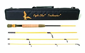 Eagle Claw Trailmaster Light Spin and Fly Rod (7-Feet, 6-Inches, 4 Piece) from Eagle Claw