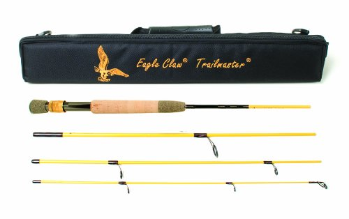 Eagle Claw Trailmaster Light Spin and Fly Rod (7-Feet, 6-Inches, 4 Piece)