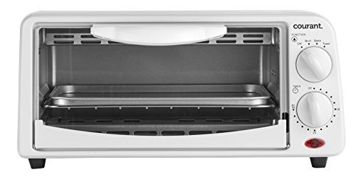Courant TO-621W 2 Slice Compact Toaster Oven with Bake Tray and Toast Rack, White (Compact Toaster Oven compare prices)