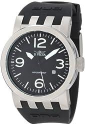Invicta Men's 0851 Force Collection Black Polyurethane Strap Watch