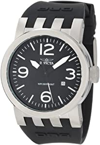 Invicta Men's 0851 Force Collection Black Polyurethane Strap Watch