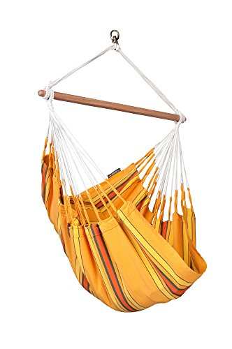 La Siesta Currambera High Comfort And Rip Proof Hammock Chair With Spreader Bars, Apricot