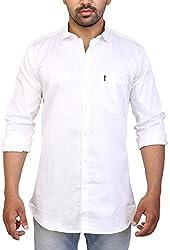 Trezer Live Men's Casual Shirt (White, X-Large)