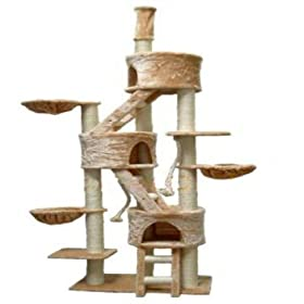 HUGE Cat Tree Toy House Bed Condo Furniture Post FC01