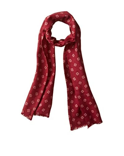 J.McLaughlin Men's Twickenham Wool Scarf, Red/Off White
