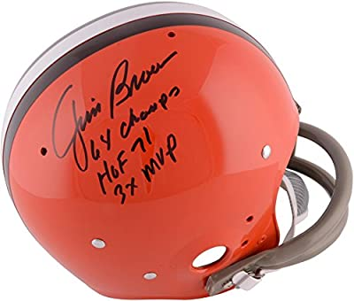 Jim Brown Cleveland Browns Autographed TK Suspension Helmet with ''1964 NFL Champs'' Inscription - Fanatics Authentic Certified