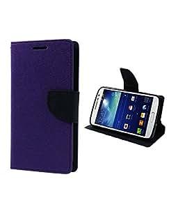 DR2S Mercury Wallet Flip Cover For Samsung Galaxy Star Advance G350 - Purple