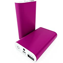 USB Power Bank Charger | 7800mAh Ultra Slim | Quick Charging External Battery Pack | Universal Compatibility | Portable Travel Charger Outlet for iPhone 6 Plus, iPhone 6, 5s, 5, 5c, 4s, iPad Air Mini, Samsung Galaxy S5, S4, Note 5, 4, 3, HTC, Sony, Nexus,
