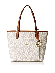 Michael Kors Womens Jet Set Item Medium Snap Pocket Tote