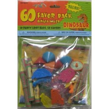 Dinosaur Favor Pack Pinata Filler 60pcs. - 1