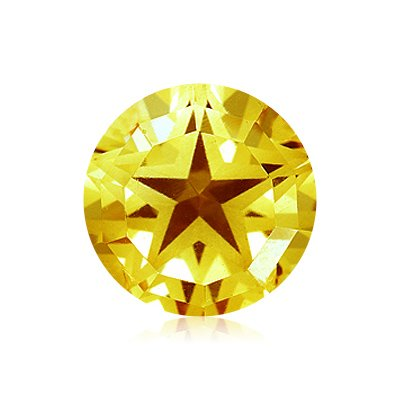 2.05 Cts of 8 mm AA Round Texas Star Loose Yellow Beryl ( 1 pc ) Gemstone