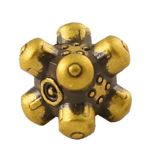1 (One) Single IronDie: Solid Metal Italian Dice - Yellow Barrier (Die-Cast Designer Six-Sided Die / d6) - 1