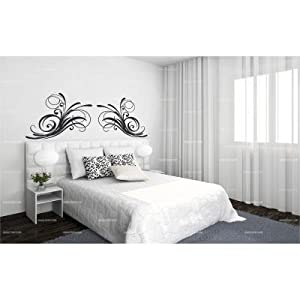 sticker t te de lit anglaise double 160 x 60 couleur. Black Bedroom Furniture Sets. Home Design Ideas