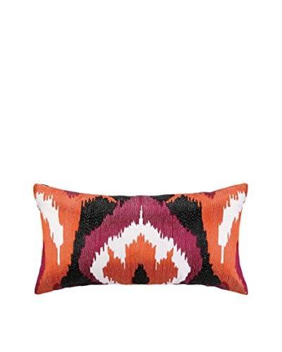 Nanette Lepore Villa Ikat Embroidered Pillow, Multi