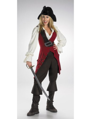 Elizabeth Pirate Adult Deluxe Adult Womens Costume - Disguise