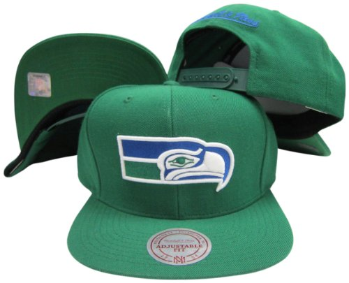 Seattle-Seahawks-Solid-Green-Plastic-Snapback-Adjustable-Plastic-Snap-Hat-Cap