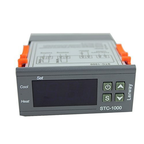 Lerway 110V All-Purpose Temperature Controller+ Sensor 2 Relay Output Thermostat Stc-1000 (Electric Thermo Pot 220v compare prices)