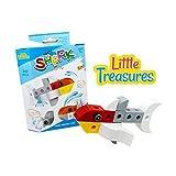 Brick Clicks Shark Home 30pcs 3 In 1 Unlimited Creativity Fun Sea Friends Educational Play Toys Building Blocks...