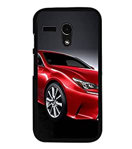 Luxury Red Car 2D Hard Polycarbonate Designer Back Case Cover for Motorola Moto G :: Motorola Moto G (1St Gen)