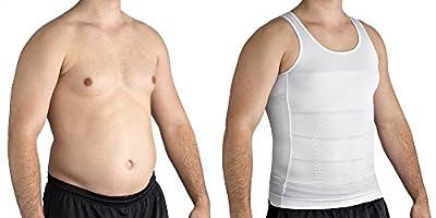 Roc Bodywear Men's Body Slimming Compression Shirt, Insta Slim Body Shaper.