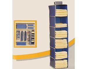 rangement a suspendre en tissu 6 compartiments pour armoire ou penderie pour chaussures