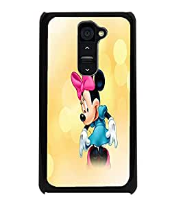 PrintDhaba Minnie Mouse D-4447 Back Case Cover for LG G2 (Multi-Coloured)
