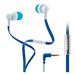 Awei ES710i Headphone Earphone Flat Cable 3.5mm for Mobile Phone Iphone MP3 Samsung (Color May Vary)