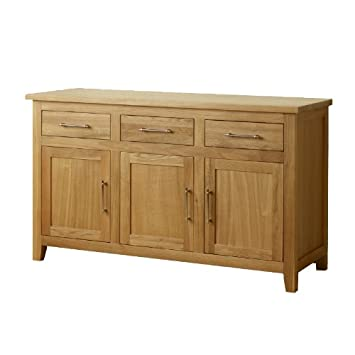 1home Harold Solid Oak Natural Modern Furniture Sideboard