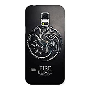 Delighted Blood Fire Emb Back Case Cover for Galaxy S5 Mini