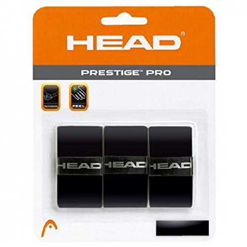 Head Prestige Pro Tennis Racquet Overgrip - Black - 1