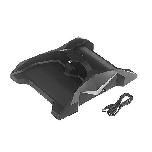 Docooler® Dual Charging Charger Stand Dock Station Holder Flash 7 Color Led For Xbox One Controller Black