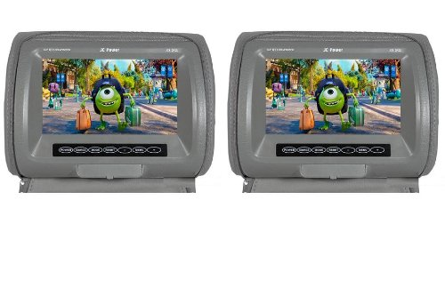 "Jc Power Jc8.2Pz2 / Jc82Pz2 8""Inch Tft Led Headrest Display Car Monitor W/ Wireless Remote Control (Color Gray) (Pair)"